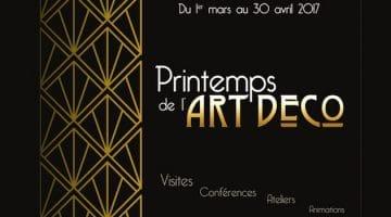 le printemps de l'Art Déco se déroule du 1er mars au 30 avril dans plusieurs grandes villes du Nord de la France