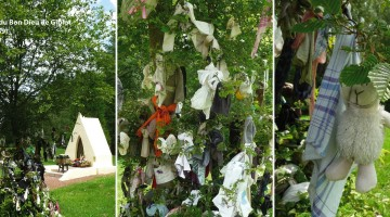 tradition des loques à la chapelle d'Hansnon dans le Nord