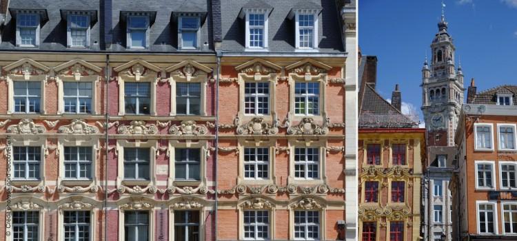 facades de la place du Général de Gaulle à Lille