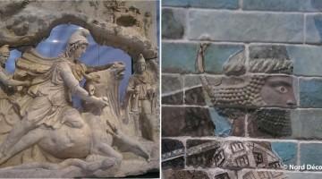 oeuvres exposées dans la gaelrie du Temps du musée Louvre Lens