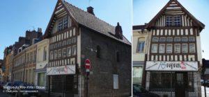 vue de la façade d'une maison des XVe et XVIe à Douai