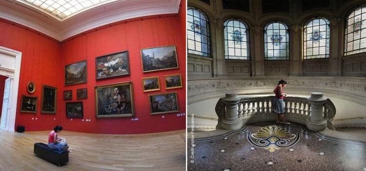vue u grand escalier et salle XIXe du Palais des Beaux-Arts de Lille