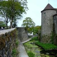 vue des fossés conservé au château musée de Boulogne-sur-Mer