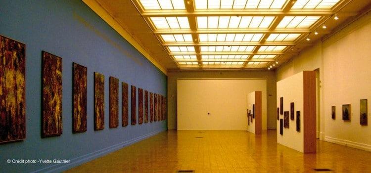 vue d'une des salles inétrieure du musée MUba Eugène Leroy à Tourcoing