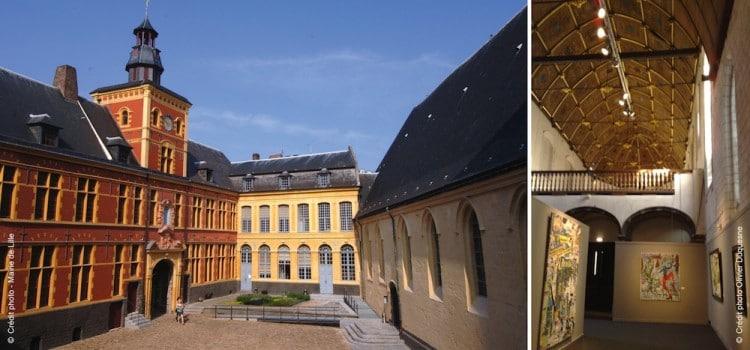 vue de la cour intérieure du musée de l' Hopsice Comtesse