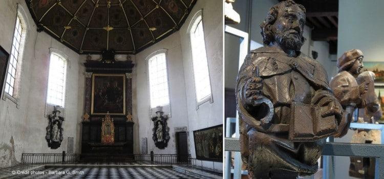 vue de l'ancienne chapelle baroque du musée de l'Hospice Comtesse