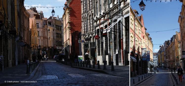 vue de la rue de la Monnaie où se trouve l'entrée principale de l'Hospice Comtesse