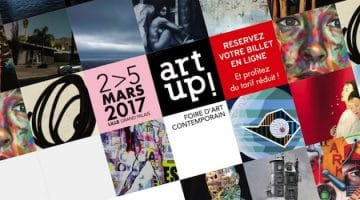 affiche de la 10e édition d'Art Up du 2 au 5 mars 2017 au Lille Grand-Palais