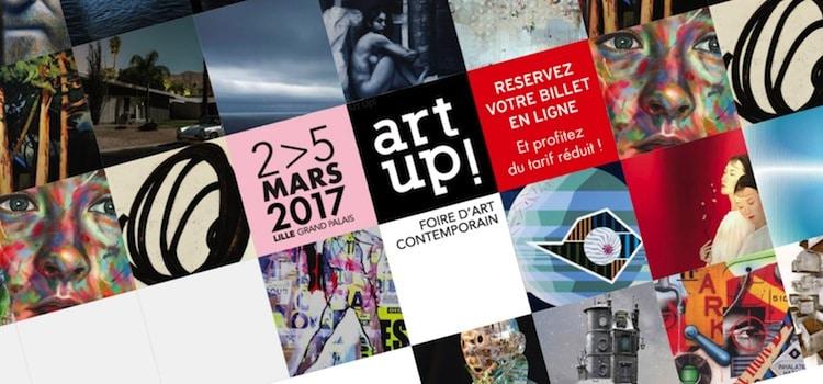 affiche de la 10e édition d'Art Up du 2 au 5 mars 2017 au Lille Grand-Palais