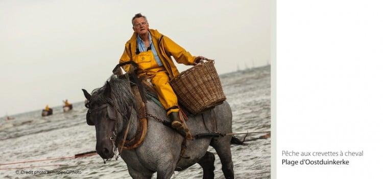 Gros plan sur les paniers utilsés par les pêcheurs de crevettes à cheval à coxyde oostduinkerke reportage Nord Découverte