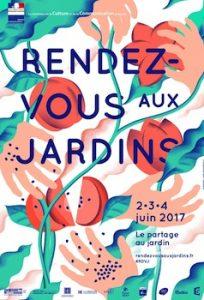 affiche des rendez-vous aux jardins 2017