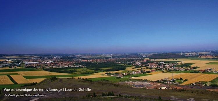 vue du panorama qu'on a du sommet des terrils jumeaux de Loos-en-Gohelle reportage Nord Découverte