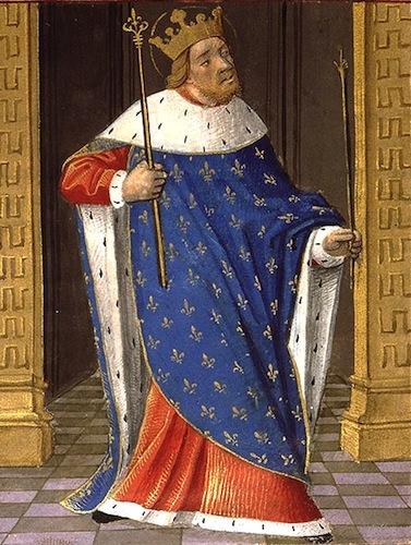 Saint Louis. Paris - Bibl. Sainte-Geneviève - Enluminure du XVe siècle