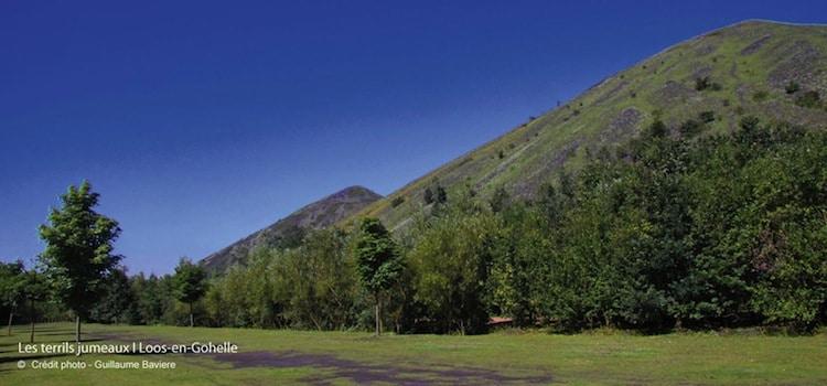 magnifique vue de l'espace naturel qui entoure les terrils jumeaux de Loos-en-Gohellereportage Nord Découverte