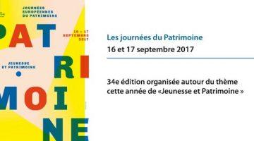 la 34e édition des Journées du patrimoine auront lieu les 16 et 17 septembre 2017 une information Nord Découverte