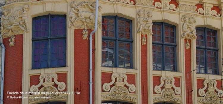 gros plan de la maison du pelletier à Lille