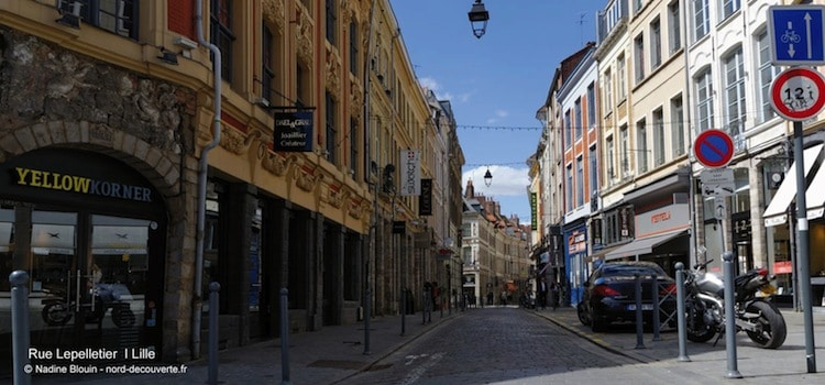 perspective de la rue Lepelletier dans le Vieux Lille