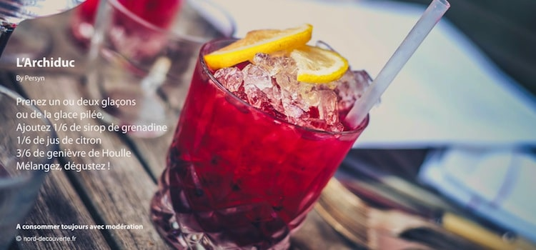 recette de cocktail archiduc avec genièvre de Houlle de la distillerie Persyn