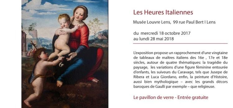 exposition les Heures Italiennes au musée Louvre Lens