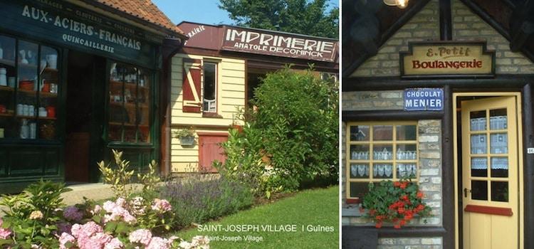 les anciens ateliers et boutiques reconstituées à l'intérieur de Saint Joseph Village à Guînes reportage Nord Découverte