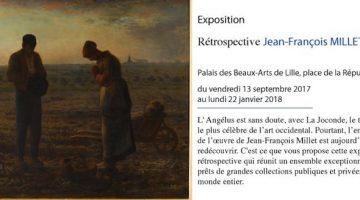 retrospective du peintre Jean François Millet au musée des beaux Arts de Lille jusqu'au 22 janvier 2018