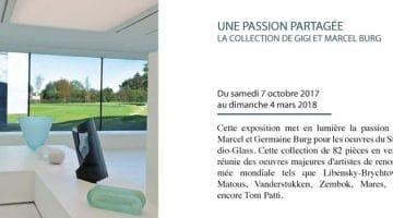 affiche de l'exposition des collections de Gigi et Marcel Burg au Musverre
