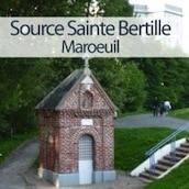 vignette représentant la source miraculeuse Sainte-Bertille à Maroeuil