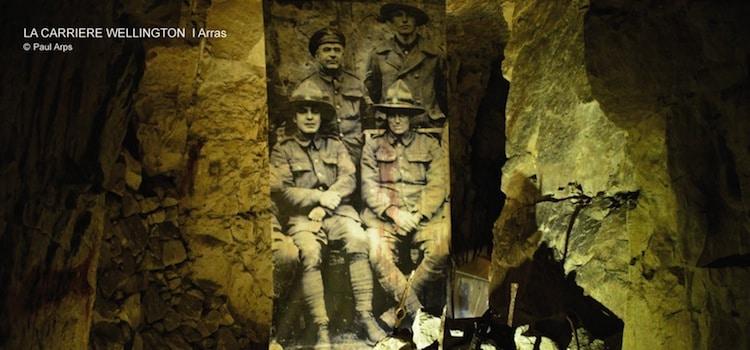 présentation visuelle de photo dans les galeries de la carrière Wellington d'Arras