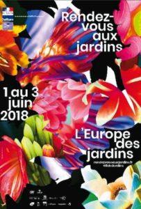 affiche des rendez-vous aux jardins 2018