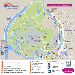 carte touristique des promenades autour de la citadelle de Lille