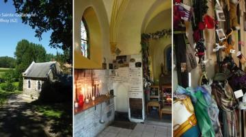La chapelle Sainte Godeleine à Wierre-Effroy est une chapelle à loques