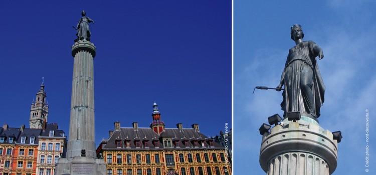 colonne de la Déesse sur la Grand'Place de Lille
