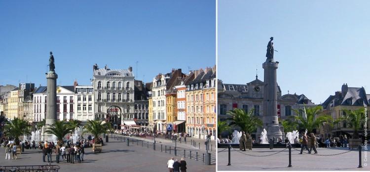 colonne de la Déesse sur la place du Général de Gaulle à Lille