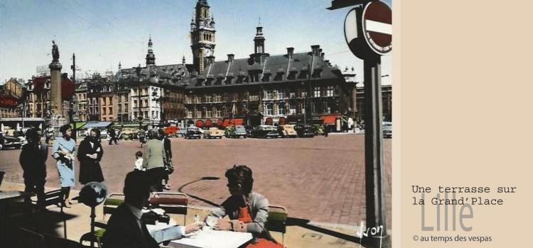 la place du Général de Gaulle à Lille dans les années 50
