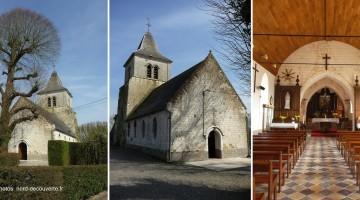plusieurs vues de l'église Saint-Martin au hameau de Morcamp