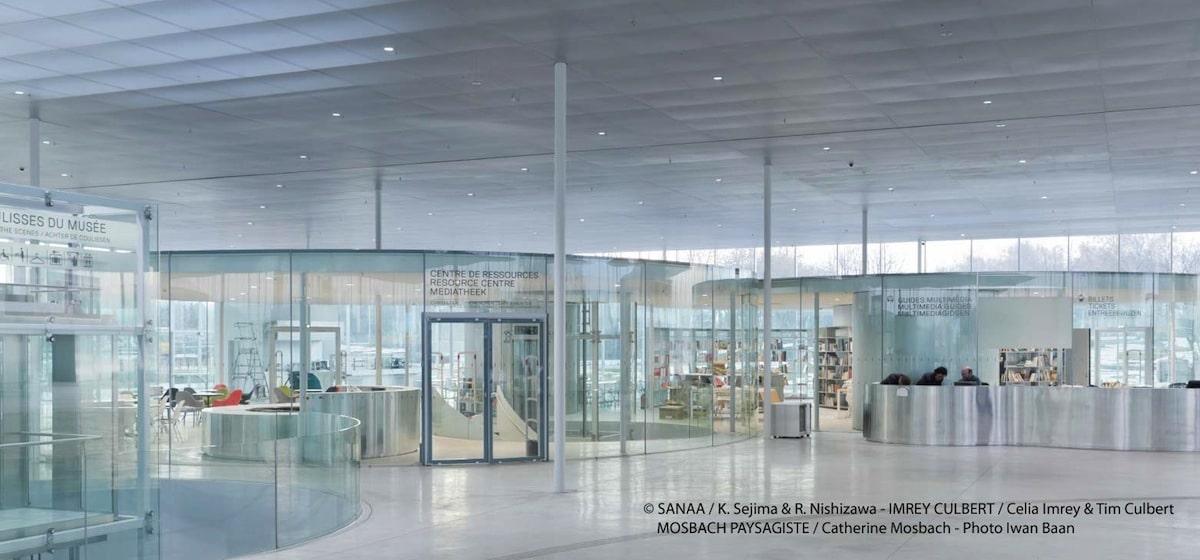 vue du hall d'accueil du musée Louvre-Lens