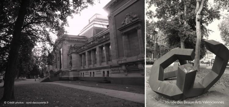 oeuvre cade et vue extérieure du Musée des Beaux-Arts de Valenciennes