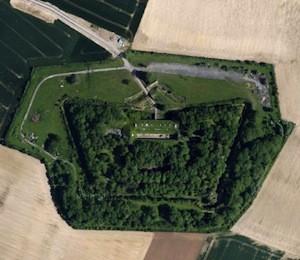 vue du ciel du Fort de Seclin