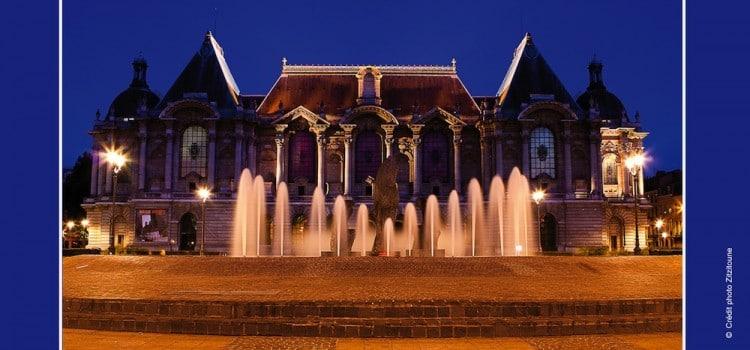 vue de nuit du Palais des Beaux-Arts de Lille