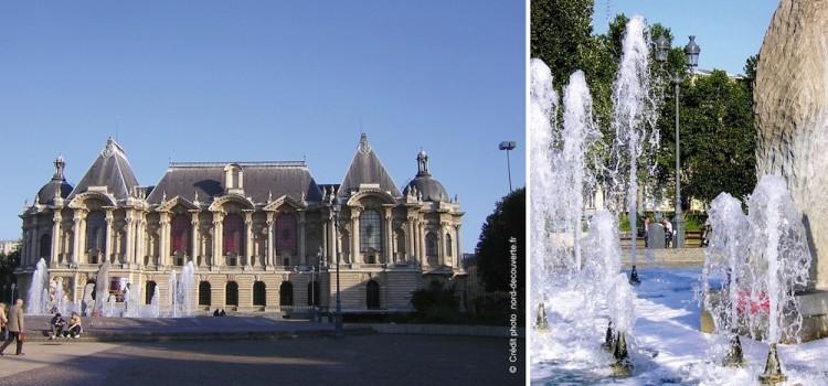 vue de la place du Palais des Beaux-Arts de Lille