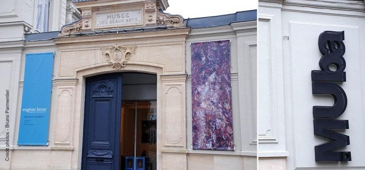 entrée du musée MUba Eugène Leroy à Tourcoing