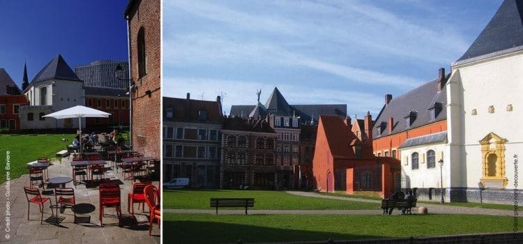 vue de l'Imot Comtesse, un hâvre de paix dans le Vieux-Lille