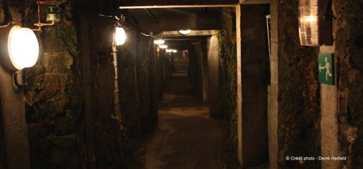 vue de l'intérieur d'une galerie souterraine Mémorial canadien de Vimy reportage Nord Découverte