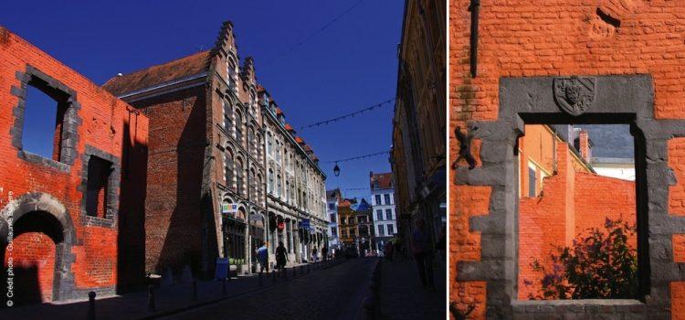 vue de la façade de l'ancien moulin du musée Hospice Comtesse dans le Vieux-Lille
