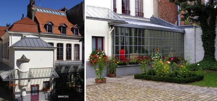cou et extérieur du musée dans la maison natale de Charles de Gaulle