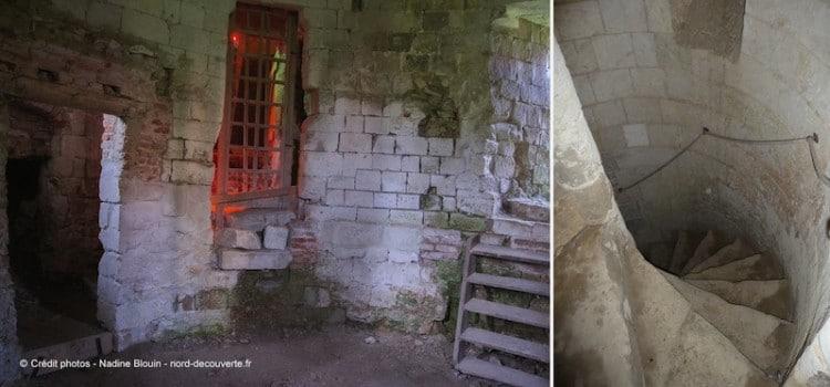 escalier-interieur-chateau-esnes-nord-decouverte