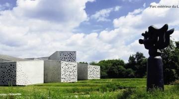 perspective extérieure du parc du musée LaM de Villeneuve d'Ascq