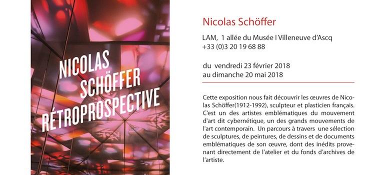 affiche de l'exposition sur Nicolas Schöffer au musée LaM à Villeneuve d'Ascq