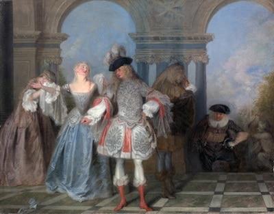 les-comediens-tableau-de-Watteau-nord-decouverte