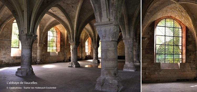 la grande salle capitulaire de l'abbaye de Vaucellesde-vaucelles-nord-decouverte